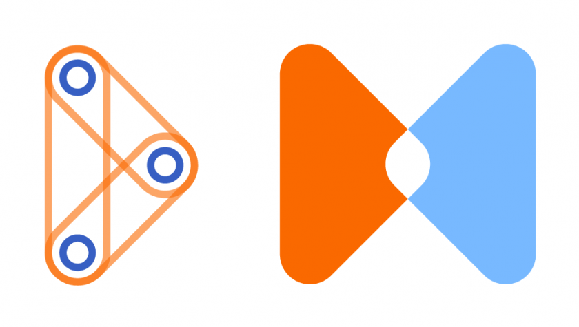 Verwendung von Farben im Umgang mit Flächen bei der visuellen Identität von WOL bei der DB